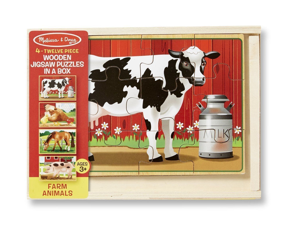 melissa & doug puzzles in a box farm animals