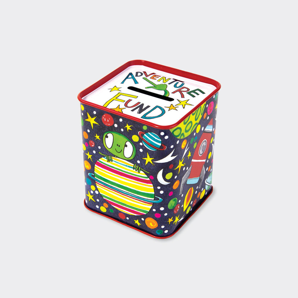 rachel ellen adventure fund money box tin