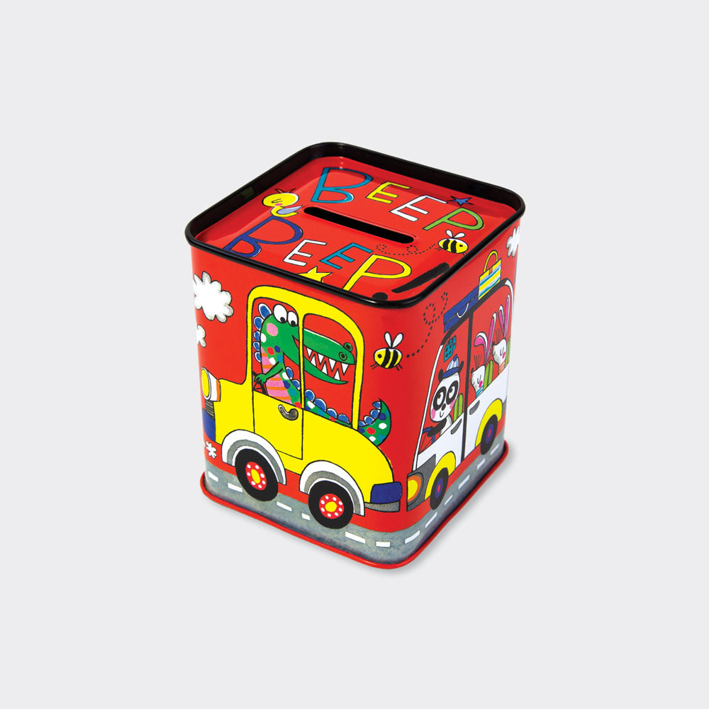 rachel ellen design cars tin money box