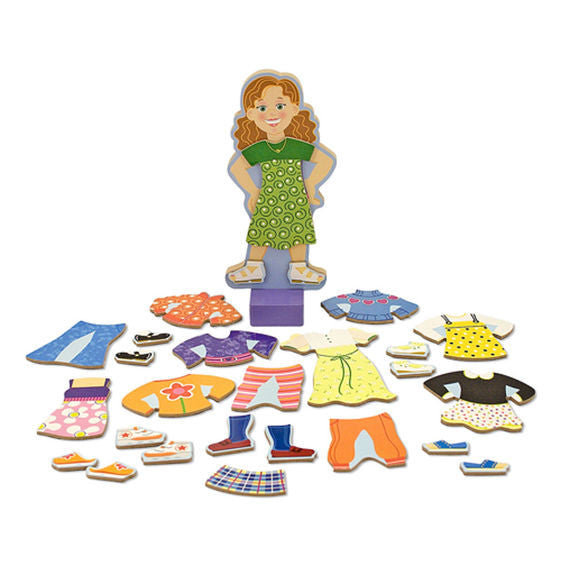 melissa & doug magnetic dress up set maggie leigh