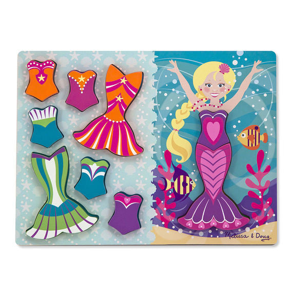 melissa & doug dress up mermaid chunky puzzle