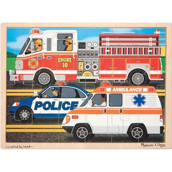 M&D Wooden Jigsaw Puzzle 24 pce Race to the Rescue