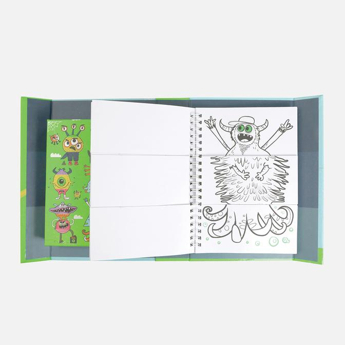tiger tribe mash up colouring set (monster mash)