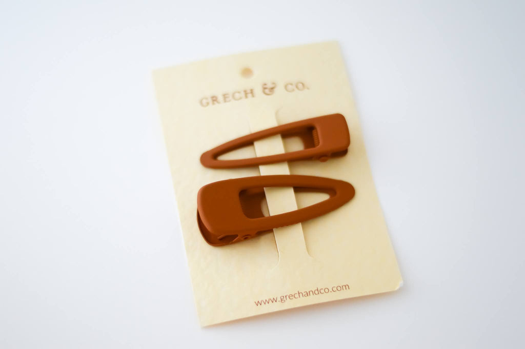 grech & co hairclips set of two in spice