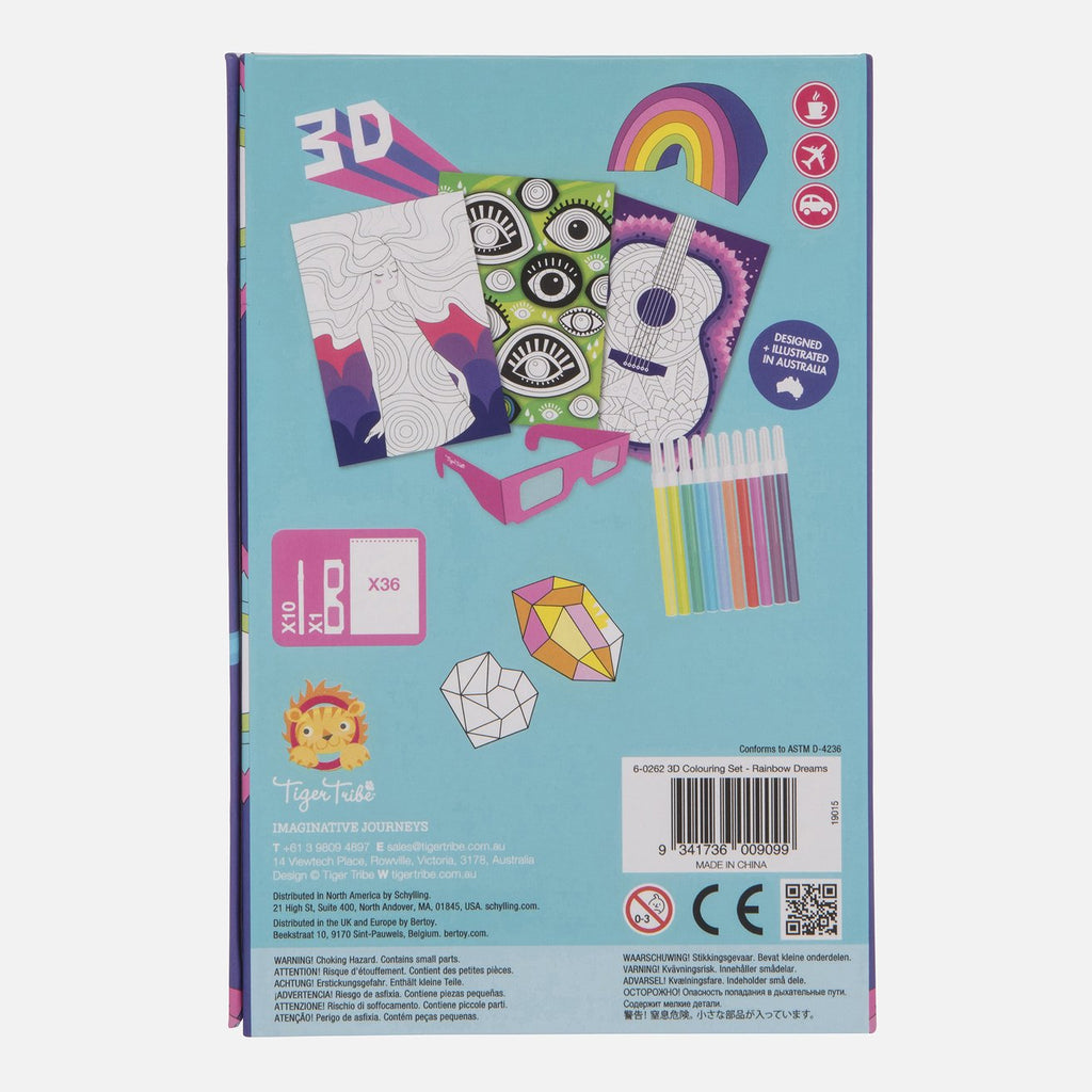 tiger tribe 3d colouring set rainbow dreams