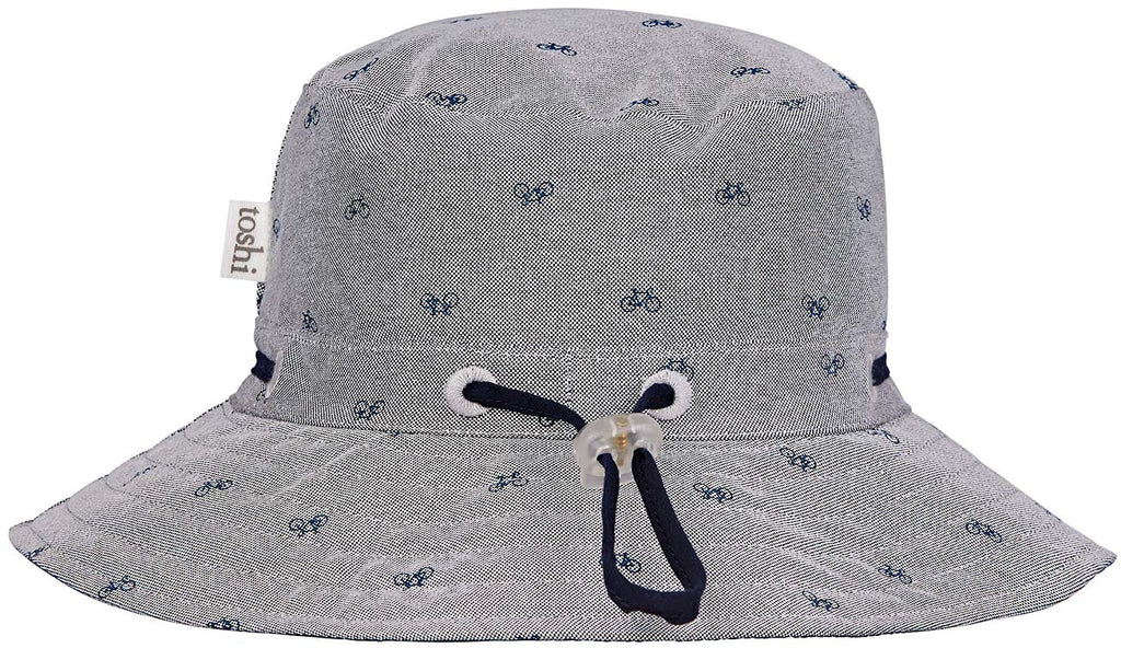 toshi boys cycling sun hat in charcoal