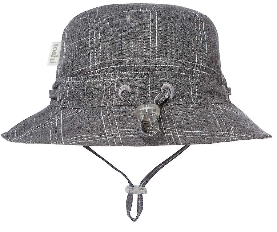toshi sun hat ranger in charcoal