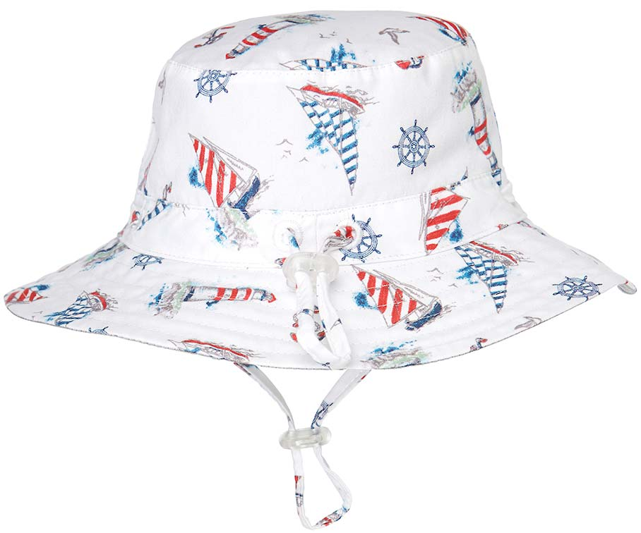toshi story time sunhat in lighthouse print