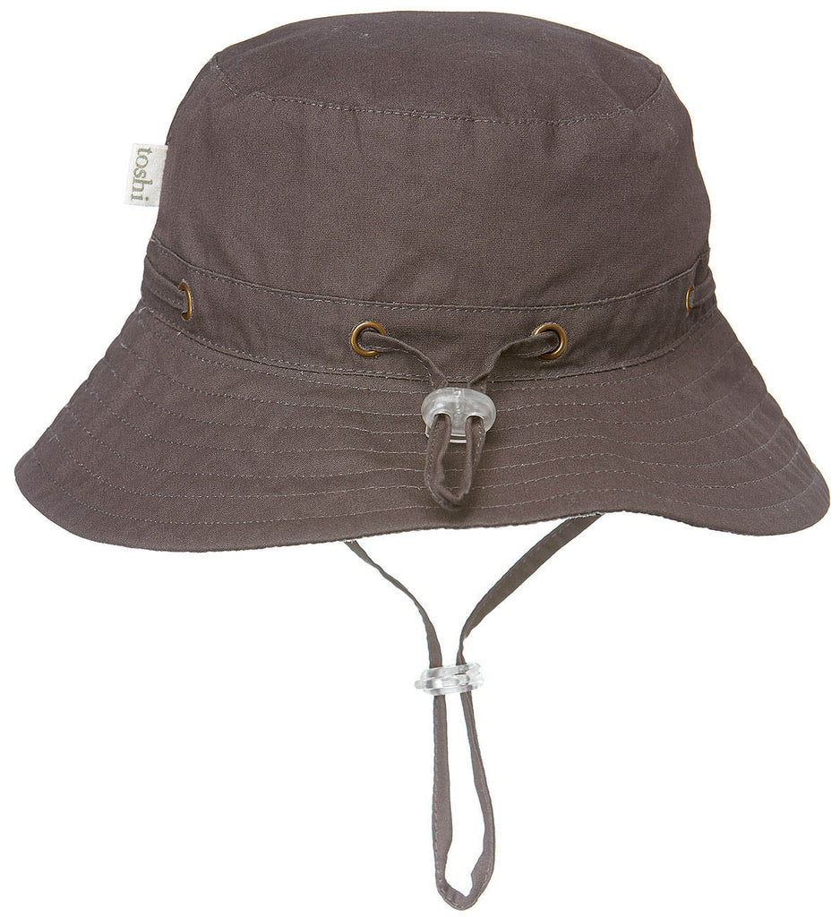 toshi boys sunhat in charcoal