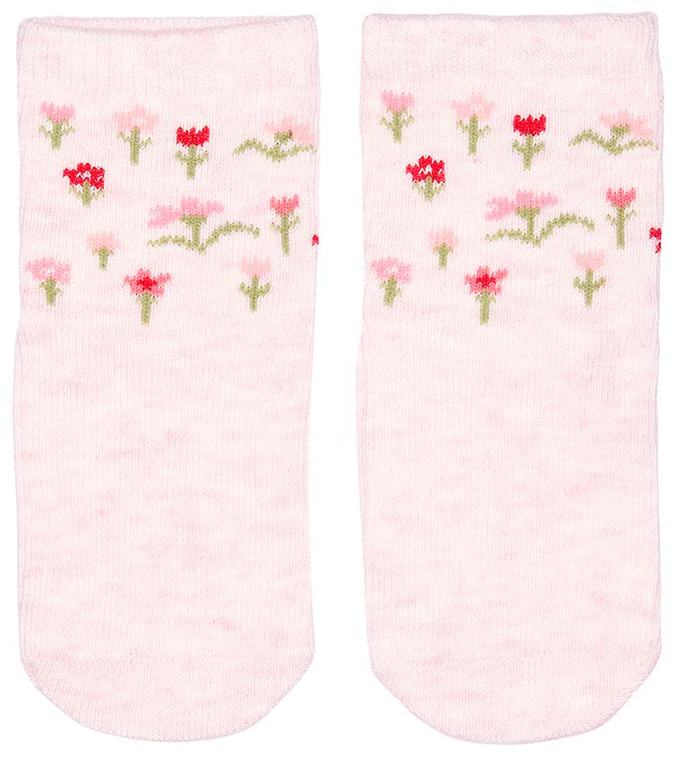 toshi organic cotton baby socks in blossom pink