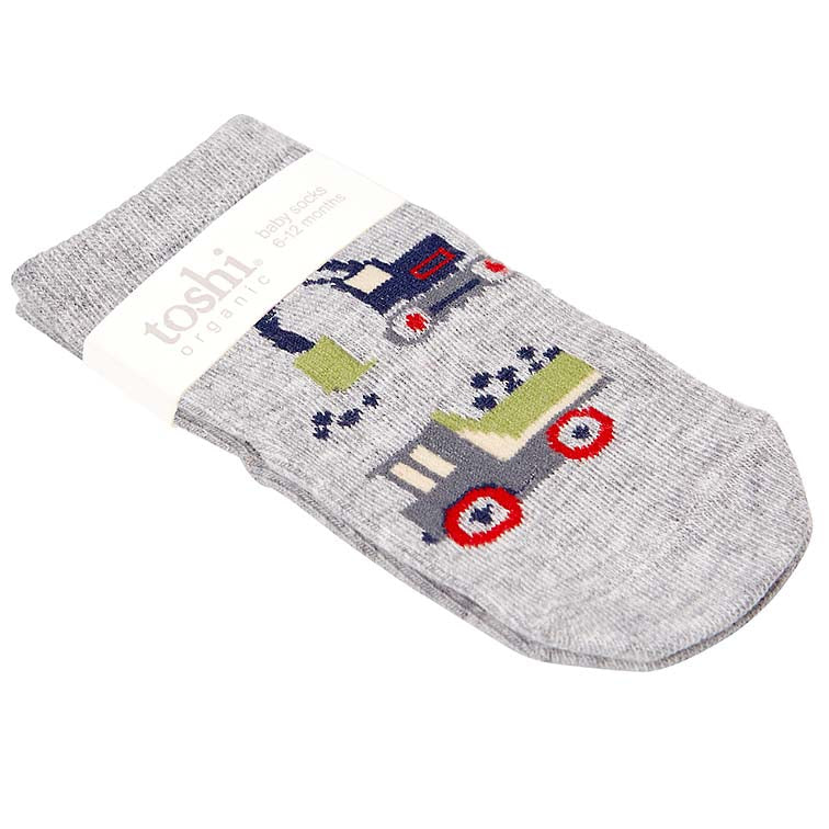 toshi baby cotton socks in boys toys print