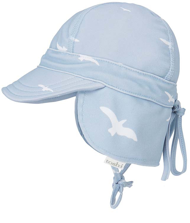 Toshi baby swim flap cap in Bondi beach print