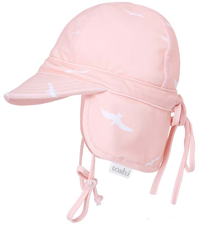 Toshi baby swim flap cap in palm beach print