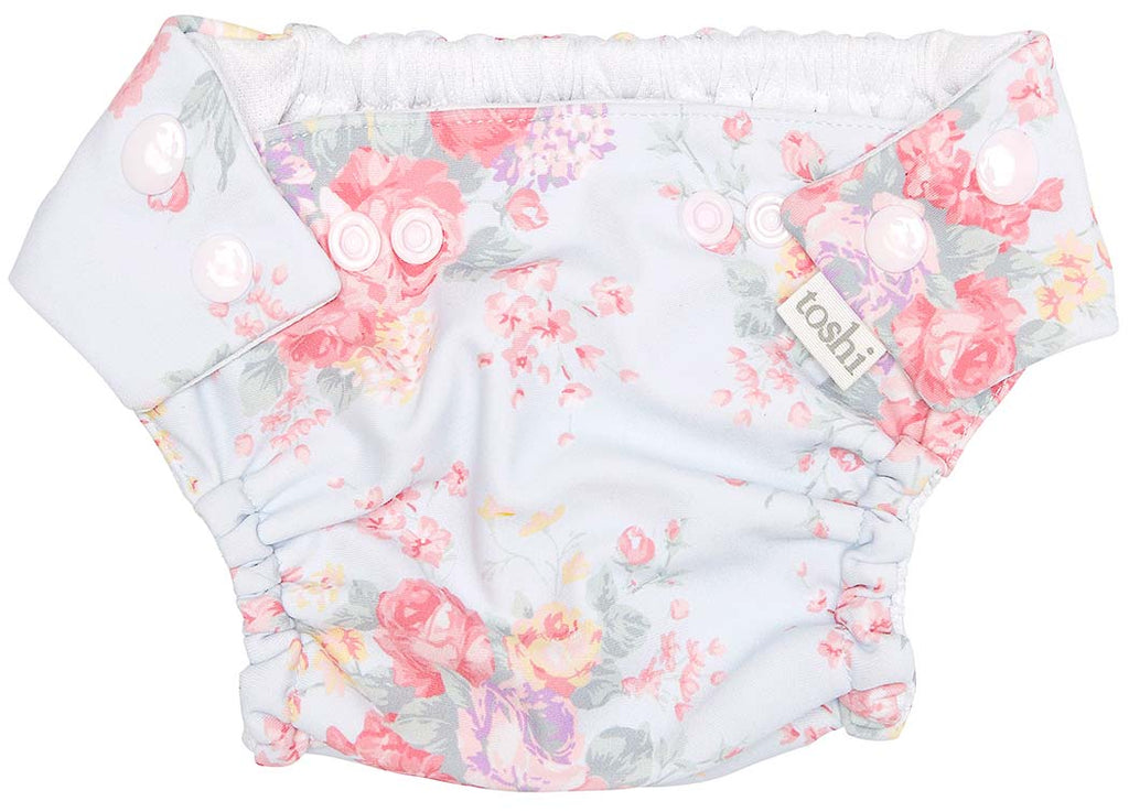 toshi swim nappy in celeste print