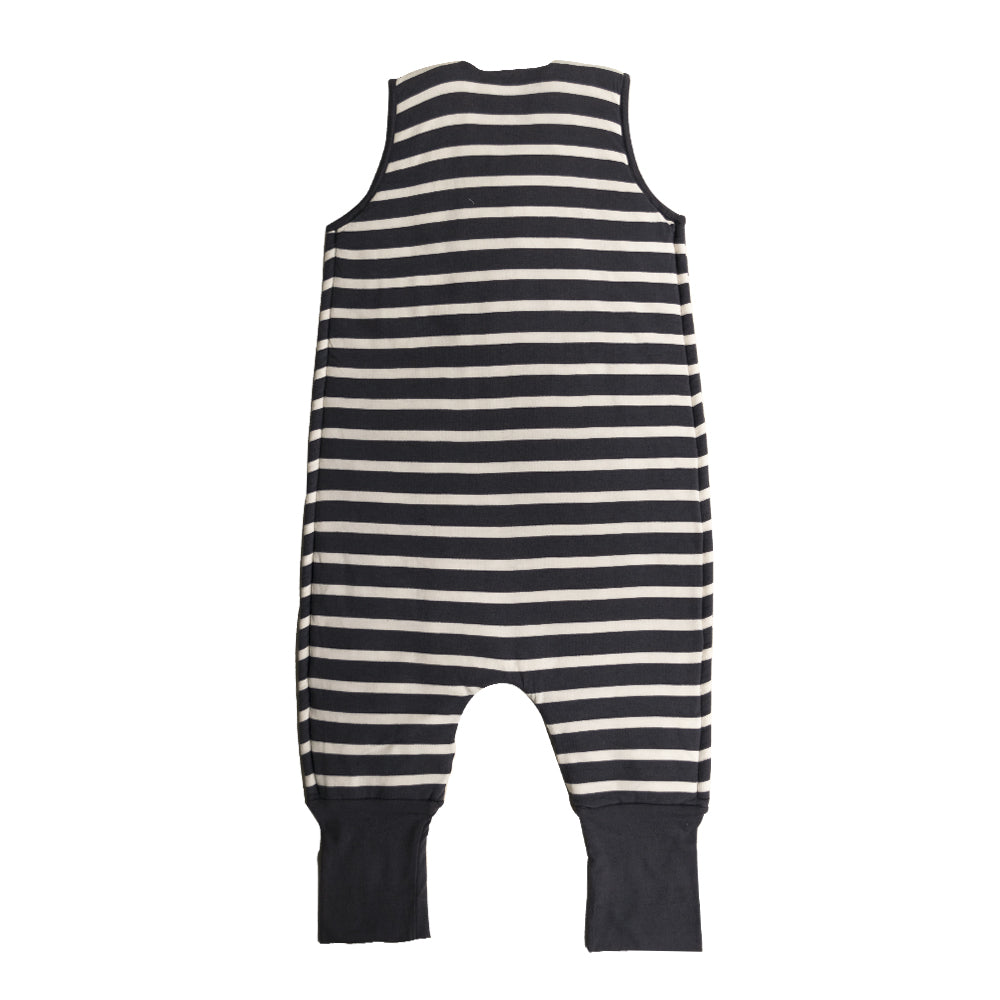 woolbabe duvet sleeping suit in karekare stripe