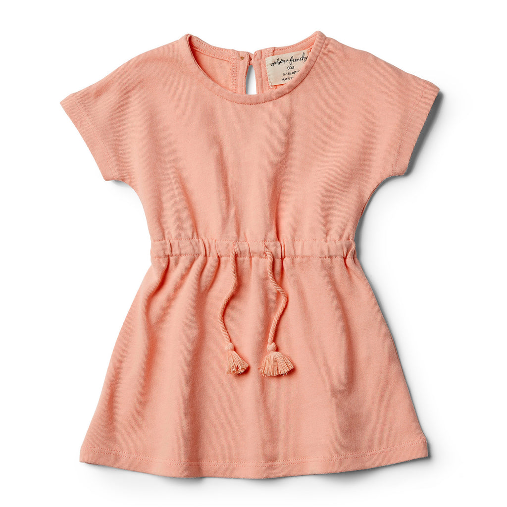 wilson & frenchy peach pearl dress