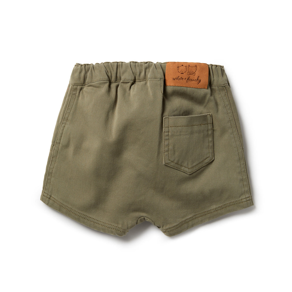 wilson & frenchy slouch shorts in fern green