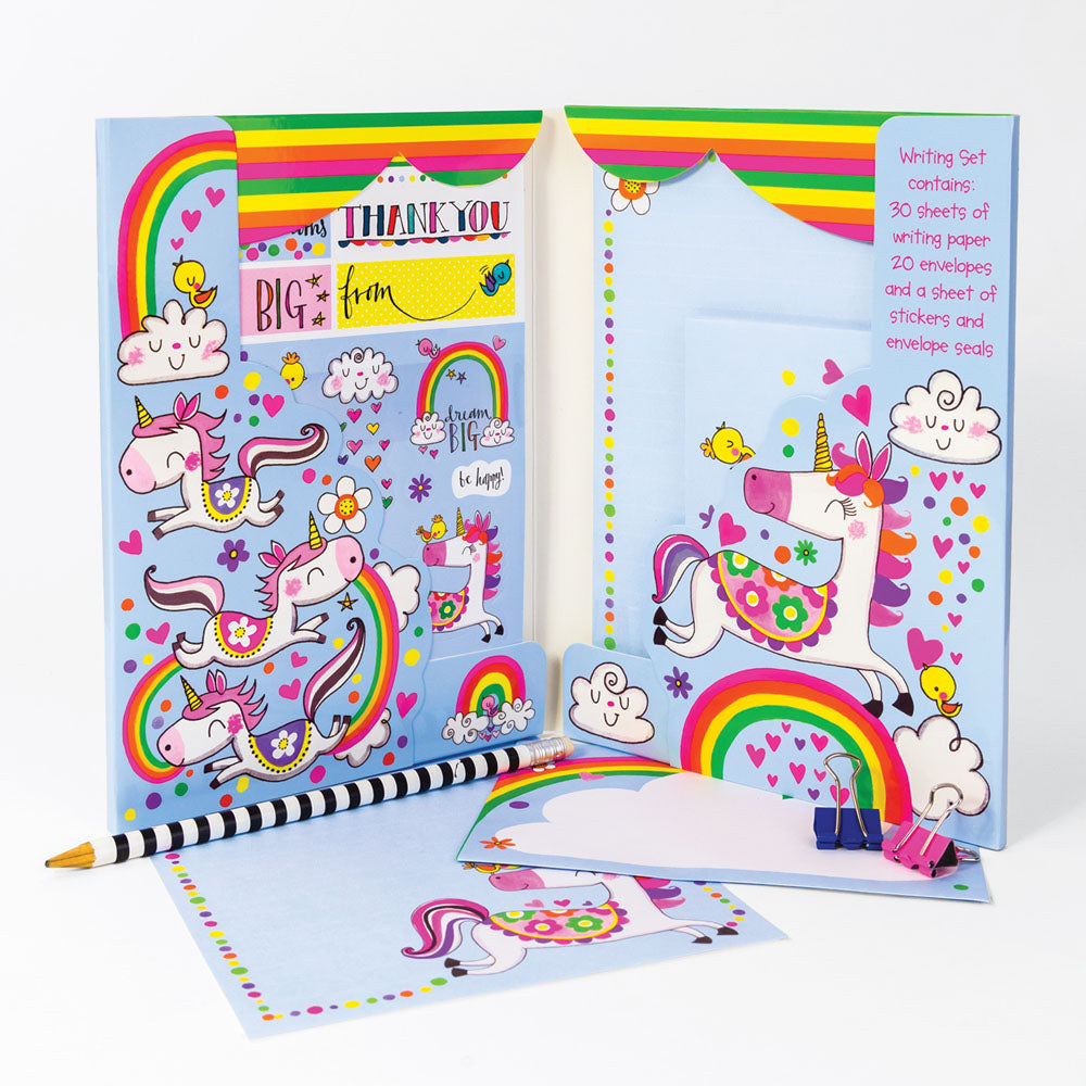 rachel ellen design childrens writing set magical unicorns