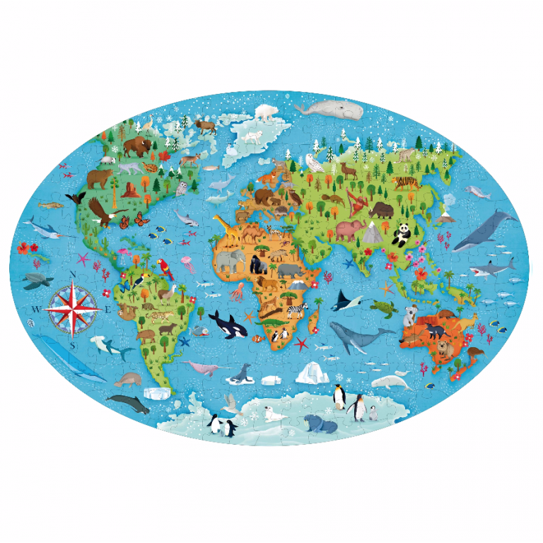 sassi puzzle and book set endangered species of the planet 205 piece puzzle