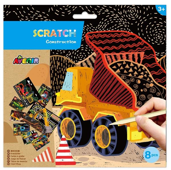 avenir scratch art kit construction