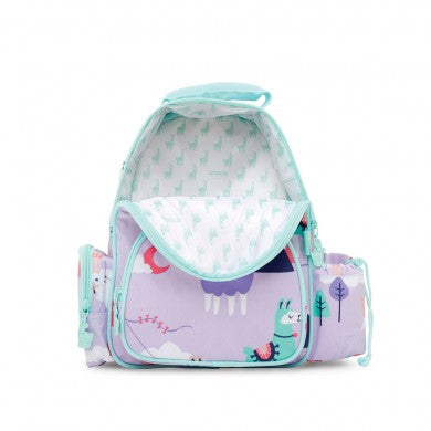 penny scallan medium kinder size backpack in loopy llama