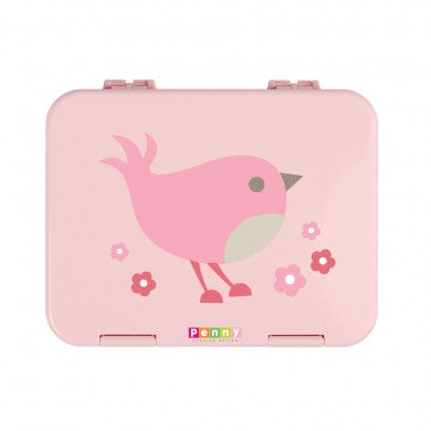 penny scallan bento box lunchbox in chirpy bird print