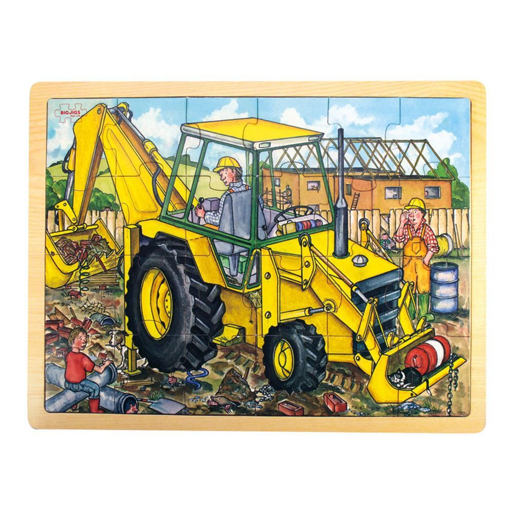 big jigs 24 piece wooden digger puzzle