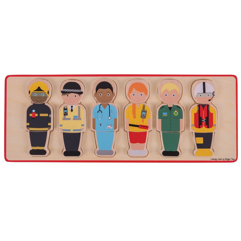 big jigs essential workers wooden puzzle