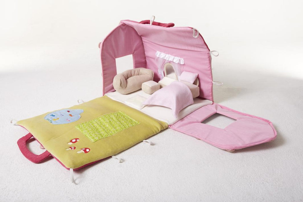 bonikka fabric doll house with furniture
