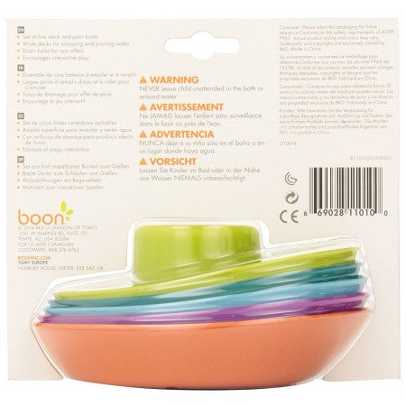 boon bath toy set of stacking boats
