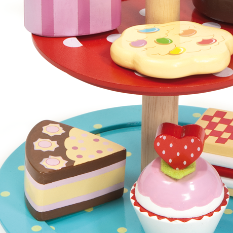 le toy van honey bake cake stand set