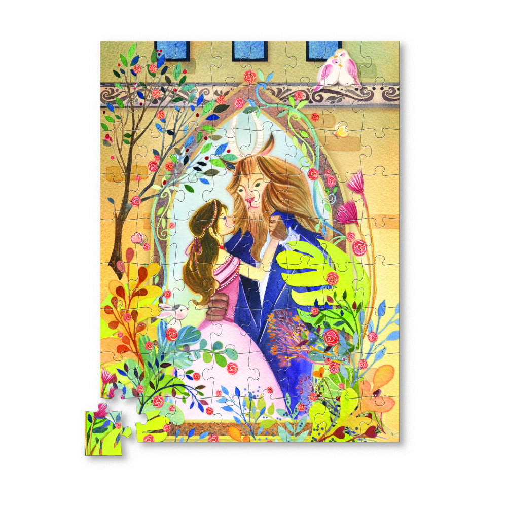 crocodile creek 72 piece puzzle beauty & the beast
