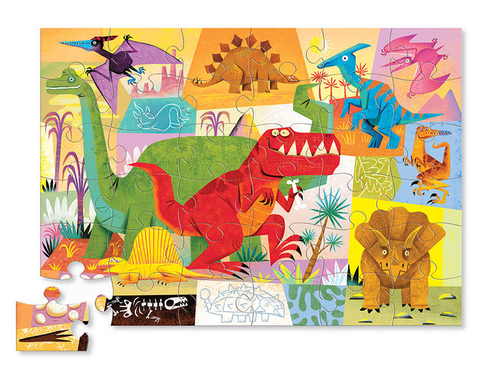 crocodile creek 36 piece dinosaur floor puzzle