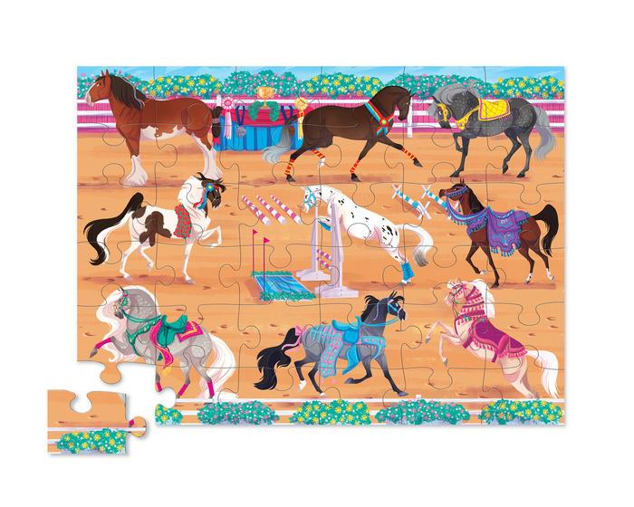 crocodile creek horse dreams 36 piece floor puzzle