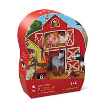 crocodile creek mini puzzle barnyard