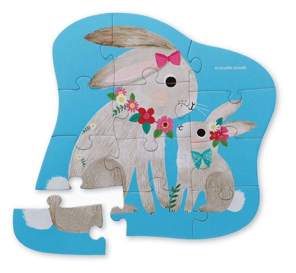 crocodile creek mini puzzle bunny love