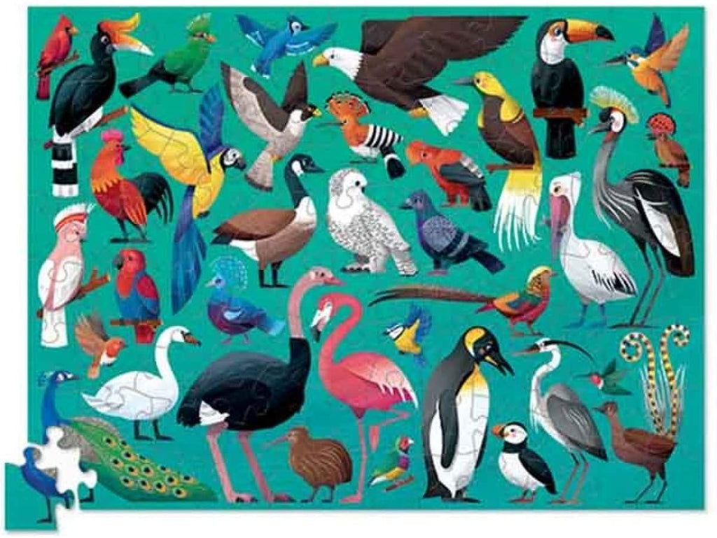 crocodile creek 100 piece bird puzzle