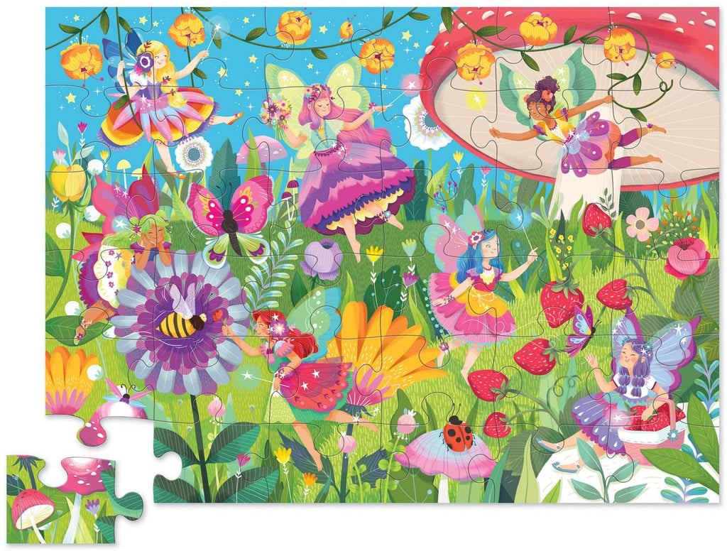 crocodile creek 36 piece fairy garden puzzle