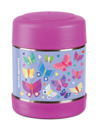 crocodile creek insulated food jar butterflies