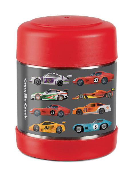crocodile creek insulated food jar race cars