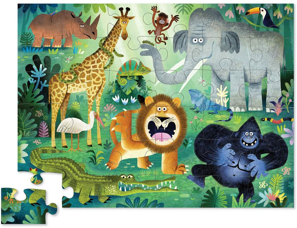 crocodile creek very wild animals 36 piece floor puzzle
