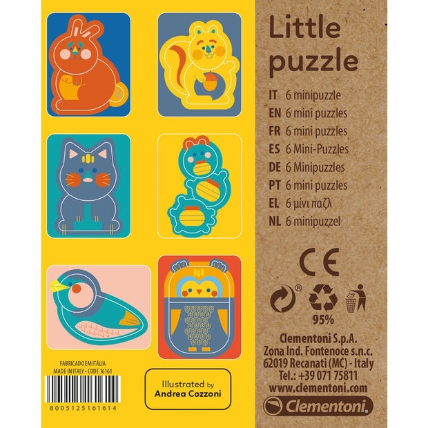 clementoni little puzzles animal theme