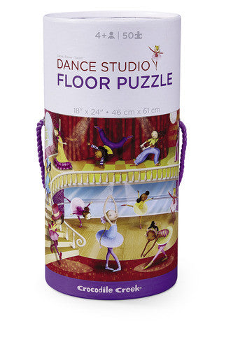 crocodile creek dance studio 50 piece floor puzzle