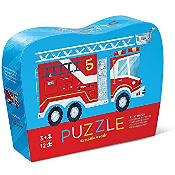 crocodile creek mini puzzle fire truck