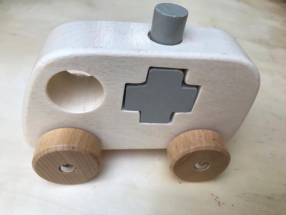 discoveroo wooden shape truck (ambulance)