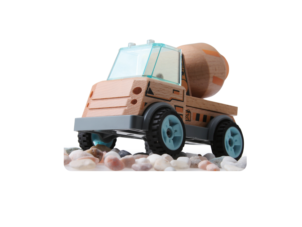 discoveroo build a cement mixer toy