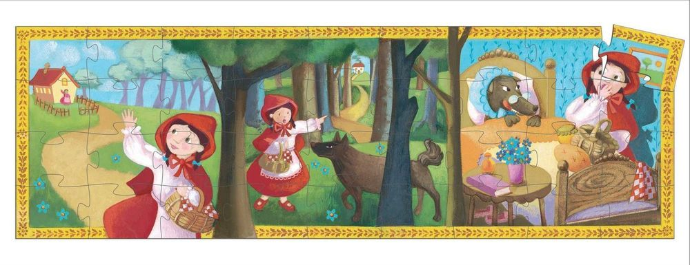 djeco puzzle little red riding hood 36 pieces