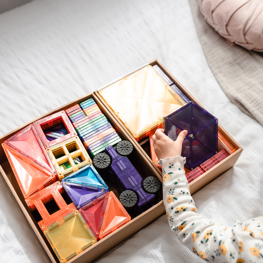 connetix magnetic tiles mega pack 212 piece set