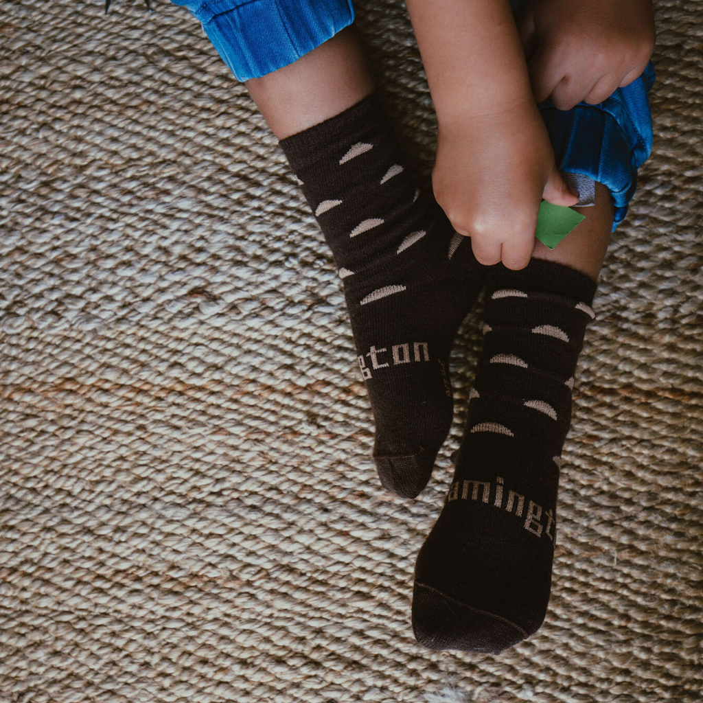 lamington merino socks kids crew erryl pattern