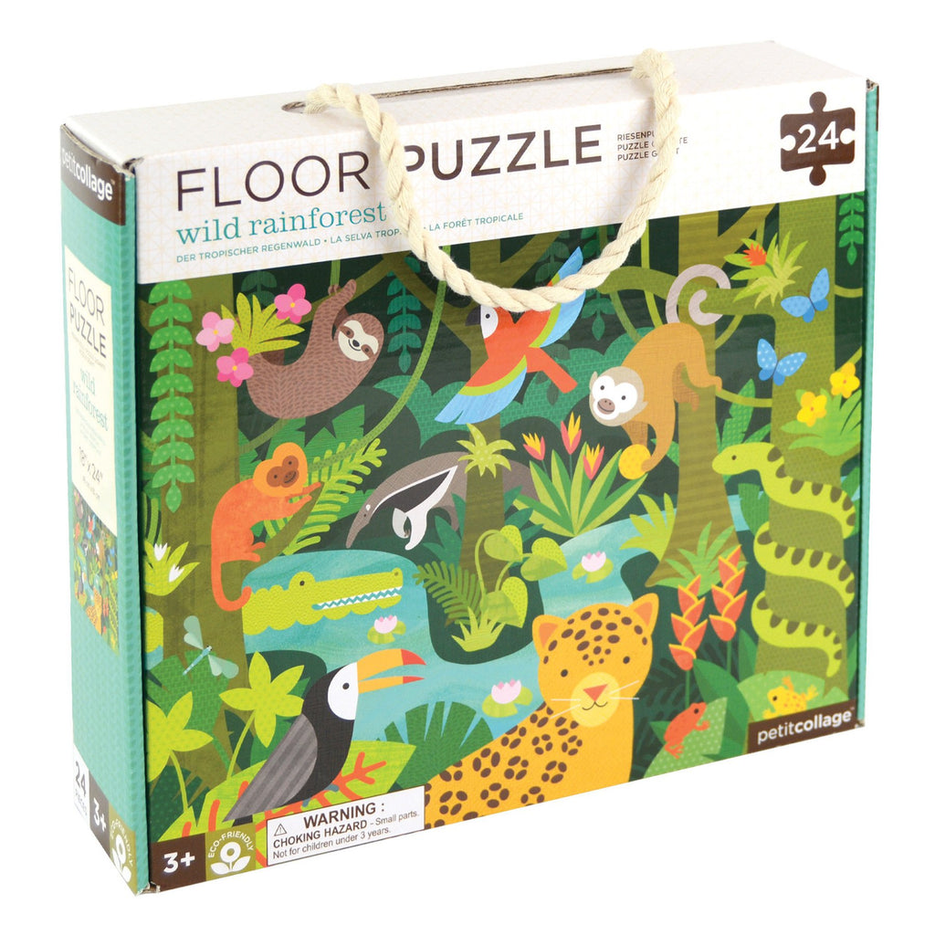 petit collage 24 piece floor puzzle wild rainforest